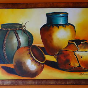 Jarrones nativos by Lidia Noemi - Painting All Painting ( jarrones, barro, ceramica, indigena, pintura,  )