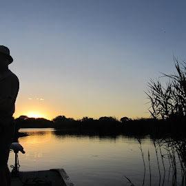 Bass fishing@ sunset by Gareth Mullin - Novices Only Sports