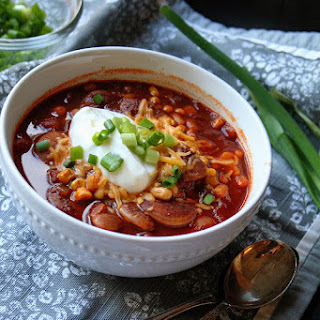 Christmas Lima + White Bean Turkey Southwest Chili