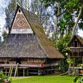The Karo traditional house, Berastagi, Indonesia by Kriswanto Ginting's - Buildings & Architecture Homes ( ethnic, indonesia, karo, traditional, house )