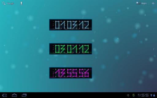 ライトサイクルの時計ウィジェット