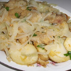 Bacalhau a Algarvia - Golden Codfish With Potatoes