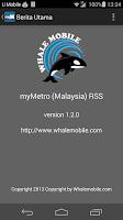 Screenshot of myMetro (Malaysia) RSS