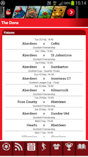 Aberdeen Match Alert - screenshot