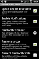 Screenshot of Speed Enabled Bluetooth
