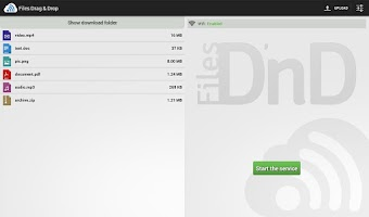 Screenshot of Files Drag & Drop