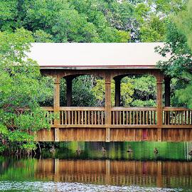 Greynolds Park Bridge by Bridgette Rodriguez - City,  Street & Park  City Parks ( water, park, greynolds, bay, parks, bridge, inlet, bridges )