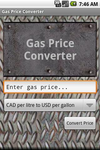 Gas Price Converter Promo