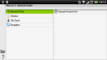 Screenshot of Project Viewer
