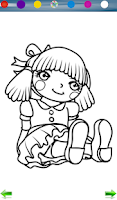 Screenshot of Doll Coloring Game