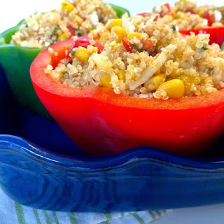 Quinoa Salad Stuffed Peppers