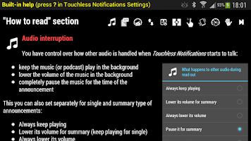 Screenshot of Touchless Notifications Pro