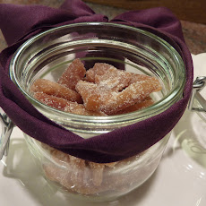 Candied Caramelized Orange Peel with Cinnamon, Cloves and Brandy