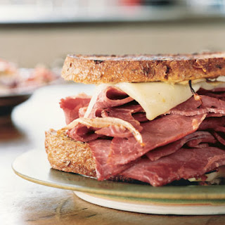 Grilled Corned Beef and Fontina Sandwiches