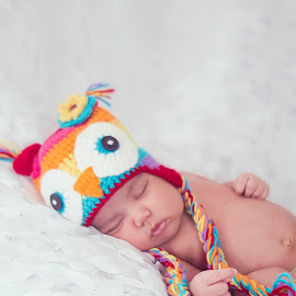 Owl hat by Jenny Hammer - Babies & Children Babies ( girl, owl, baby, cute, hat )