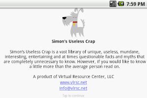 Screenshot of Simons Useless Crap