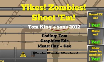 Screenshot of Yikes! Zombies! Shoot 'Em!