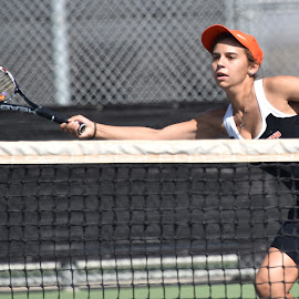 Stretching for the Ball by Steven Aicinena - Sports & Fitness Tennis