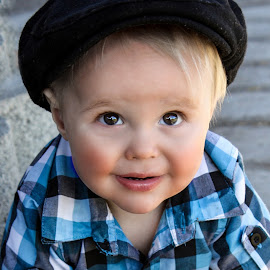 Beautiful Boy by Pierre Vee - Babies & Children Toddlers ( son, toddler, boy, hat )