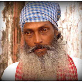 The Mbdicant by Prasanta Das - People Portraits of Men ( mendicant, inspiration, seeking, religious )