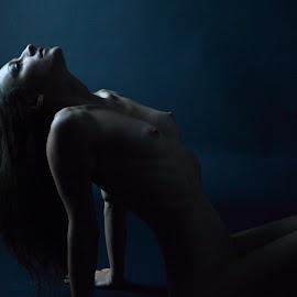 Head to the Sky by Troy Phifer III - Nudes & Boudoir Artistic Nude ( dreamy, nude, dark, artistic, ms. e )