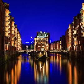 Hamburg Blue Port 2014 by Matthäus Rojek - Landscapes Waterscapes ( hamburg blue port 2014 )