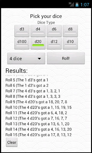 simpledice-roller for android screenshot