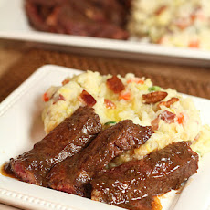 Potato and Cabbage Colcanon with Irish Whiskey Steak