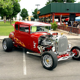 Red Hot Rod by Rich AMeN Gill by Rich Gill - Transportation Automobiles ( rich amen gill, albaquerque, hot rod, new mexico, rich gill,  )