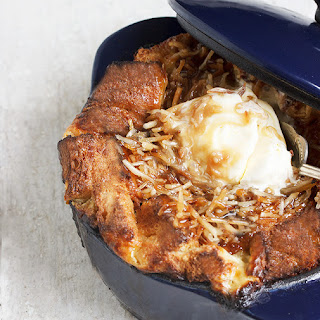 Banana Bread Pudding with Coconut Caramel Sauce