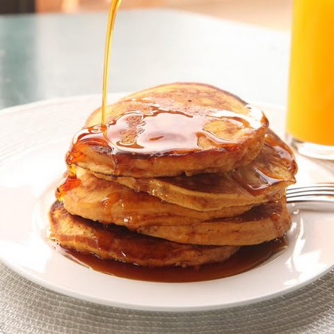 Sweet Potato Pancakes Made With Leftover Mashed Sweet Potatoes