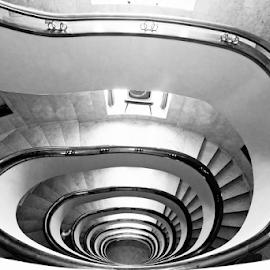 by Antonio Amen - Black & White Buildings & Architecture