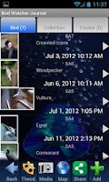 Screenshot of Bird Watching Journal