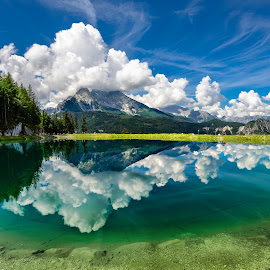 Alpine Lake by Nick M - Landscapes Mountains & Hills ( reflection, mountain, lake, berchtesgaden )