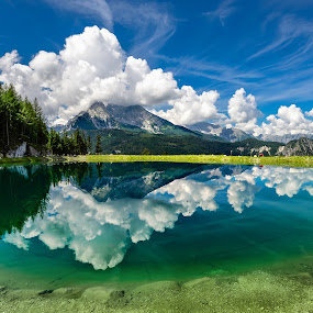 Alpine Lake by Nick Moulds - Landscapes Mountains & Hills ( reflection, mountain, lake, berchtesgaden,  )