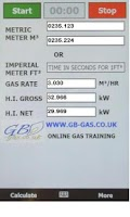 Screenshot of Gb-Gas heat input Calculator