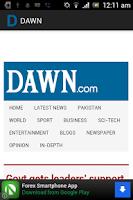Screenshot of DAWN
