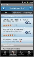 Screenshot of RepairPal