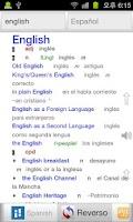 Screenshot of Todos Diccionario Inglés