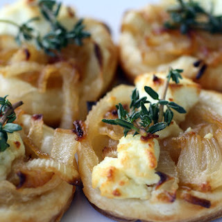 Sweet Onion and Goat Cheese Tarts with Thyme