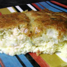 Impossible Salmon Pie