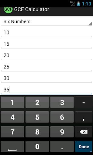 【免費教育App】GCF Calculator-APP點子