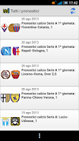 Screenshot of Pronostici Scommesse