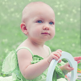 Brooklynn Tink by Jenny Hammer - Babies & Children Babies ( girl, green, baby, cute, tinkerbell )