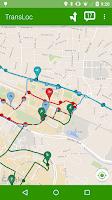 Screenshot of TransLoc Transit Visualization