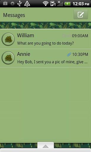 GO SMS THEME SummerLeaves4U