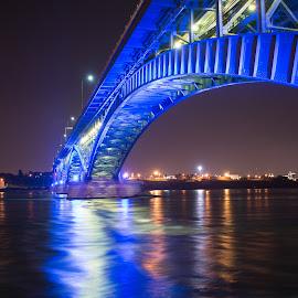 Peace Bridge by Curtis Capuano - Buildings & Architecture Bridges & Suspended Structures ( nightcsape, waterscape, night, long exposure, bridge,  )