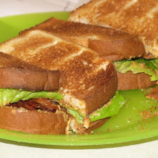 Pb, B, and L (Peanut Butter, Bacon, and Lettuce) Sandwich (A BLT