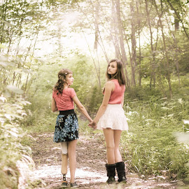 Friendship by Hanis Craven - People Family ( amputee, friends, friendship, woods )
