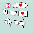 3D Speech Bubbles (7 versions)